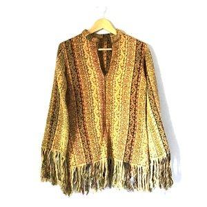Jackets & Blazers - Vintage 1970's Festival Jacket with Fringe EUC